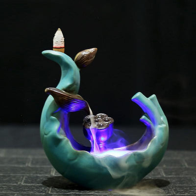 LED Lotus Backflow Incense Burner