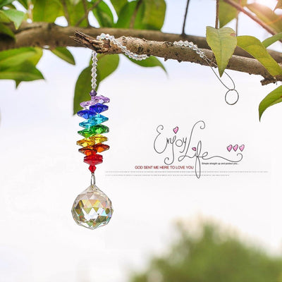 "Chakra ""I am Eternal"" Crystal Suncatcher - My Metanoia Co"