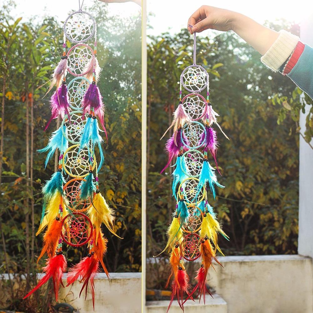 7 Chakra Feather Dreamcatcher
