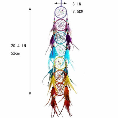 7 Chakra Feather Dreamcatcher - My Metanoia Co