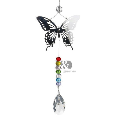 "Chakra ""Butterfly Love"" Crystal Suncatcher - My Metanoia Co"