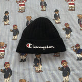 Black Champion Spell Out Hat-Hats/Accessories-DISTINCT - THREADS