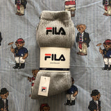 BNWT 3 Pack Fila Logo Sports Socks (UK 9-11)-Hats/Accessories-DISTINCT - THREADS