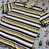 BNWT Black, White & Yellow Striped Guess T Shirt (S/M)-T Shirts-DISTINCT - THREADS