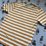 BNWT Orange & Cream Striped Guess T Shirt (S/M)-T Shirts-DISTINCT - THREADS