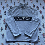 Brand New Grey Nautica Spell Out 1/4 Zip Fleece (M&L)-Fleeces-DISTINCT - THREADS