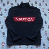 Brand New Navy Nautica Spell Out 1/4 Zip Fleece (M&L)-Fleeces-DISTINCT - THREADS