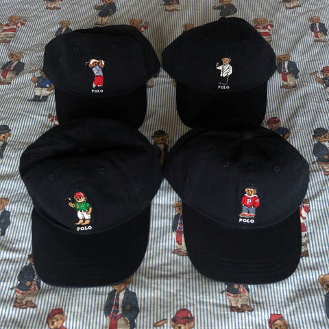 Dark Navy Ralph Lauren Polo Bear Six Panel Caps 🐻-Hats/Accessories-DISTINCT - THREADS