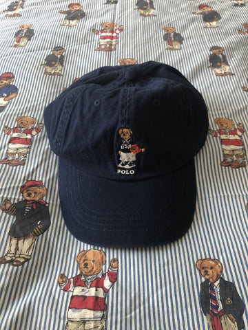 Navy Ralph Lauren Polo Bear Cap 🐻 (Basketball)-Hats/Accessories-DISTINCT - THREADS