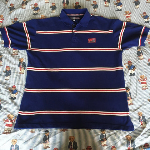 Vintage 80's Blue Reebok Polo Shirt 🇬🇧 (M)-Polos-DISTINCT - THREADS