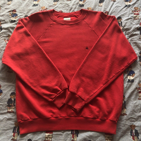 Vintage 80's Red United Colors Of Benetton Sweatshirt (L)-Sweatshirts/Jumpers-DISTINCT - THREADS