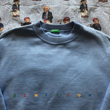 Vintage 80's Sky Blue United Colors Of Benetton Sweatshirt (S/M)-Sweatshirts/Jumpers-DISTINCT - THREADS