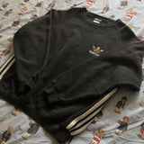 Vintage 90s Black Adidas Originals Sweatshirt (XL/L)-Sweatshirts/Jumpers-DISTINCT - THREADS
