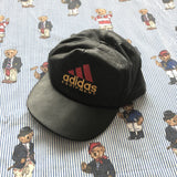 Vintage 90s Black Leather Adidas Equipment Cap-Hats/Accessories-DISTINCT - THREADS