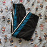 Vintage 90's Black & Turquoise Adidas Tracksuit Bottoms (M)-Bottoms-DISTINCT - THREADS