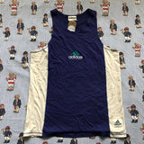 Vintage 90s Blue Adidas Equipment Vest (L)-T Shirts-DISTINCT - THREADS