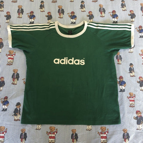 Vintage 90's Forest Green Adidas Originals T Shirt 🌲 (L/XL)-T Shirts-DISTINCT - THREADS