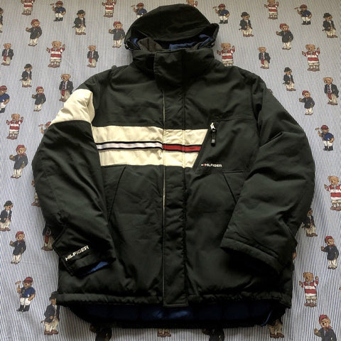 Vintage 90s Forest Green Tommy Hilfiger Puffer Jacket 🌲(L)-Jackets/Coats-DISTINCT - THREADS