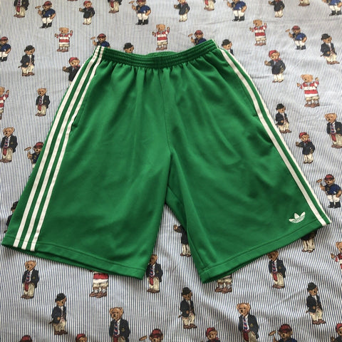Vintage 90's Green Adidas Jogger Shorts (L)-Bottoms-DISTINCT - THREADS