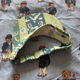 Vintage 90's Green & Blue Print Lacoste Sun Visor 🐊-Hats/Accessories-DISTINCT - THREADS