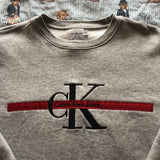 Vintage 90s Grey Calvin Klein Sweatshirt ♦️ (M)-Sweatshirts/Jumpers-DISTINCT - THREADS