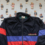 Vintage 90's Navy Adidas Originals Track Jacket (L)-Jackets/Coats-DISTINCT - THREADS