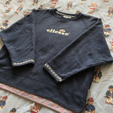 Vintage 90s Navy Ellesse Womens Sweatshirt (M)-Sweatshirts/Jumpers-DISTINCT - THREADS