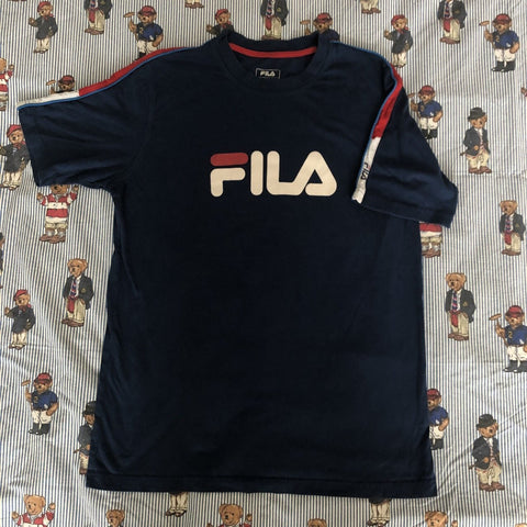 Vintage 90's Navy Fila T Shirt (M)-T Shirts-DISTINCT - THREADS