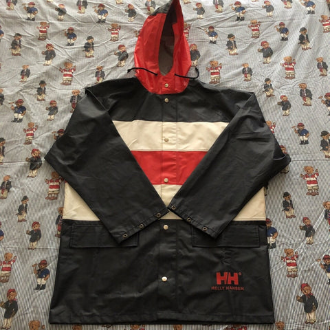 Vintage 90s Navy Helly Hansen Sailing Jacket ⛵️(L)-Jackets/Coats-DISTINCT - THREADS
