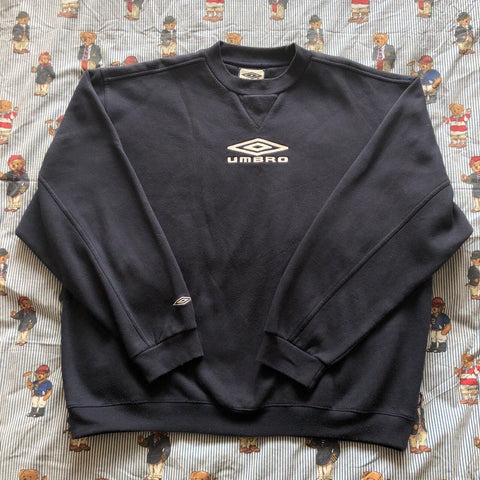 Vintage 90s Navy Umbro Sweatshirt (XL/L)-Sweatshirts/Jumpers-DISTINCT - THREADS