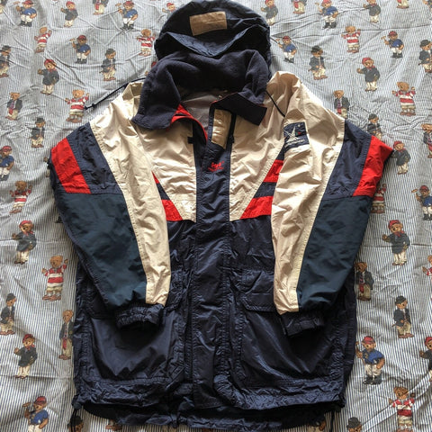 Vintage 90s Navy & White Helly Hansen Twin Sails Jacket 🌊 (L)-Jackets/Coats-DISTINCT - THREADS