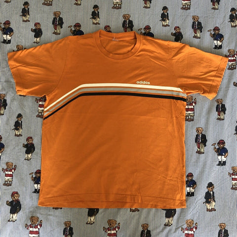 Vintage 90's Orange Adidas Originals T Shirt (M)-T Shirts-DISTINCT - THREADS