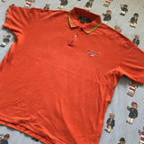 Vintage 90s Orange Polo Sport Waffle Knit Polo Shirt 🇺🇸 (L)-Polos-DISTINCT - THREADS