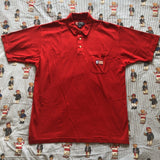 Vintage 90s Red Chaps Ralph Lauren Polo Shirt (L)-Polos-DISTINCT - THREADS