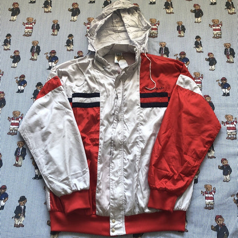 Vintage 90s Red & Grey Adidas Originals Jacket (L)-Jackets/Coats-DISTINCT - THREADS