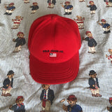 Vintage 90s Red Ralph Lauren Fleece Six Panel Cap 🔥-Hats/Accessories-DISTINCT - THREADS
