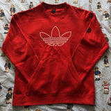 Vintage 90's Red Team Adidas Sweatshirt 🍒(XL/L)-Sweatshirts/Jumpers-DISTINCT - THREADS
