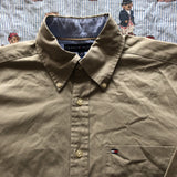 Vintage 90's Sandstone Tommy Hilfiger Shirt (M)-Shirts-DISTINCT - THREADS