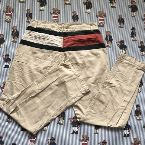 "Vintage 90's Tommy Hilfiger Chinos (M/32"")-Bottoms-DISTINCT - THREADS"
