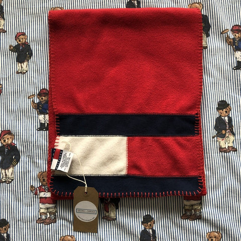 Vintage 90's Tommy Hilfiger Fleece Scarf-Hats/Accessories-DISTINCT - THREADS