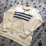 Vintage 90s White Ralph Lauren Rugby Shirt 🕊 (M)-Rugby Tops-DISTINCT - THREADS