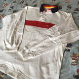Vintage 90's White Tommy Hilfiger Rugby Shirt 🕊 (M)-Rugby Tops-DISTINCT - THREADS