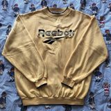 Vintage 90s Yellow Reebok Sweatshirt 🍋 (M)-Sweatshirts/Jumpers-DISTINCT - THREADS