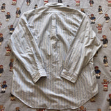 "Vintage Baby Blue & White Striped Ralph Lauren Button Down Shirt (17"")-Shirts-DISTINCT - THREADS"