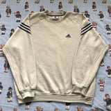 Vintage Beige Adidas Sweatshirt (L)-Sweatshirts/Jumpers-DISTINCT - THREADS