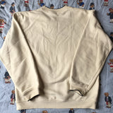 Vintage Beige Nike Sweatshirt Witch Navy Stripe (L)-Sweatshirts/Jumpers-DISTINCT - THREADS