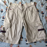 Vintage Beige Tommy Hilfiger Shorts (34 inch)-Bottoms-DISTINCT - THREADS