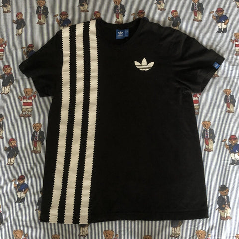 Vintage Black Adidas Originals T Shirt (M)-T Shirts-DISTINCT - THREADS