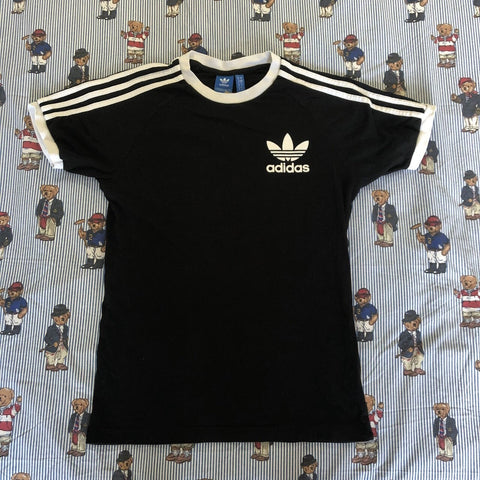 Vintage Black Adidas Originals T Shirt (S)-T Shirts-DISTINCT - THREADS