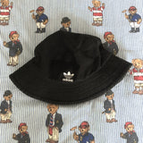 Vintage Black Canvas Adidas Bucket Hat (L)-Hats/Accessories-DISTINCT - THREADS